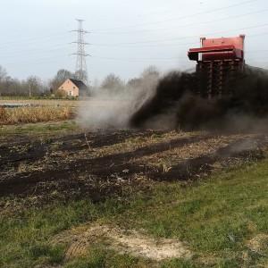 compost op bevrozen grond