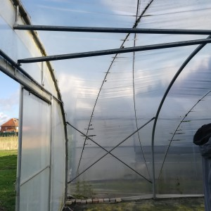 Hagelandse tunnel Pastiserre: gevel wordt gestut mbv 6 stevige buizen