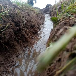 febbruari: greppeltjes graven tegen wateroverlast